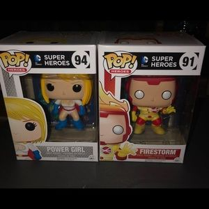 Funko DC Comics Vaulted firestorm powergirl figs
